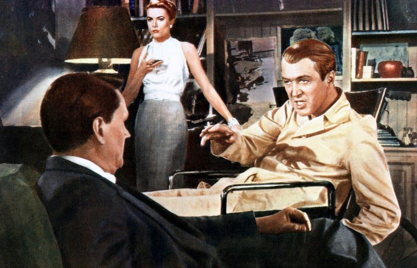 Alfred Hitchcock: Okno do dvora (Wendall Corey, Grace Kelly, James Stewart). Profimedia